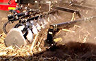 Mounted Rolling Baskets with Mud Scrapper In Slow Motion